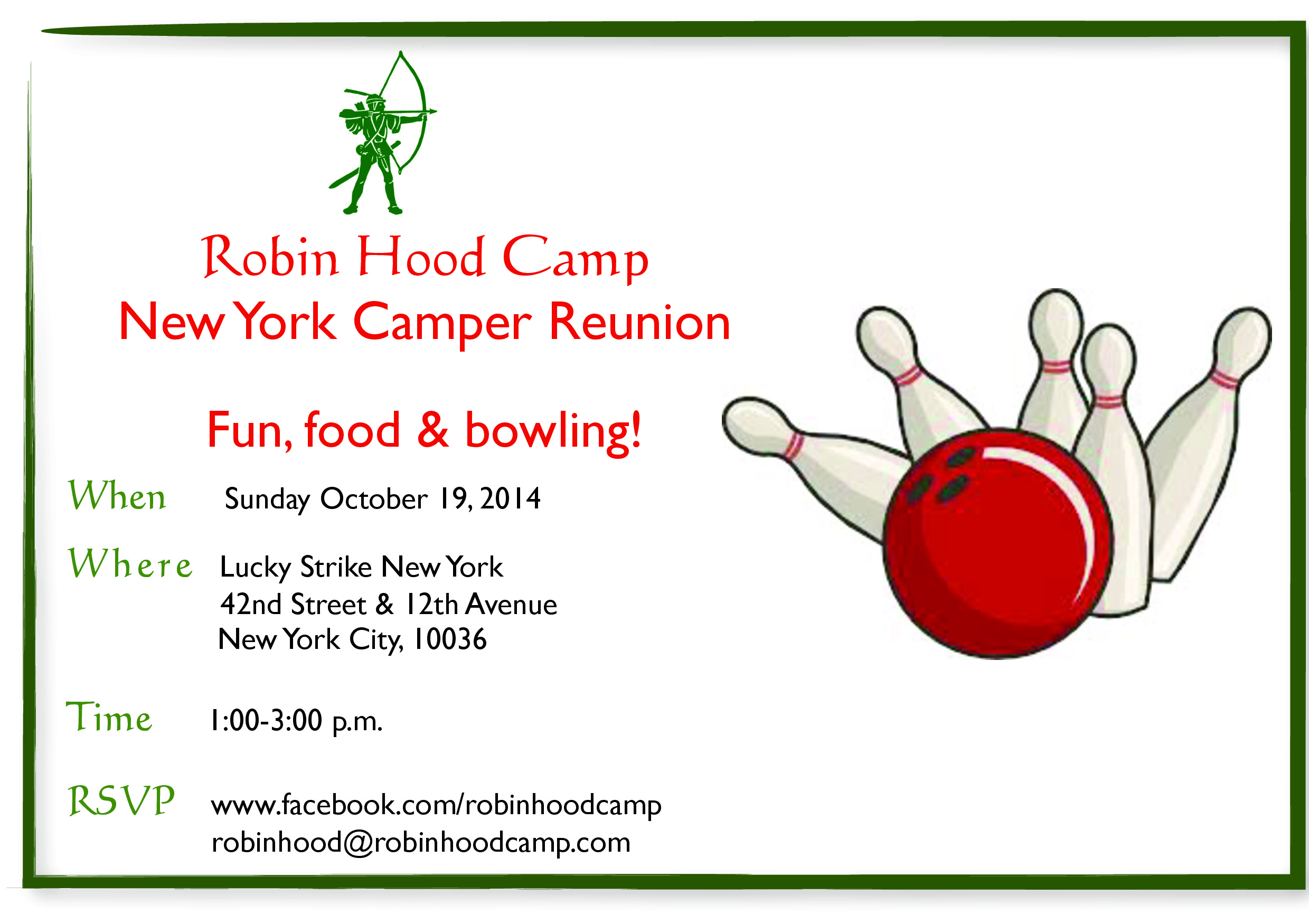 NYC Bowling Party Invite