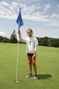 Golf Girls with Flag