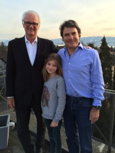 Two generations of Robin Hooders! Marie and father Albert Mathieu at their home in Zurich.