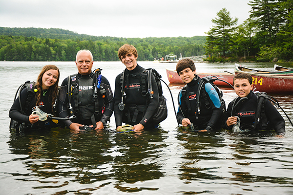 Scuba diving at Robin Hood Camp